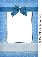 azul, puntos, blanco, polca, plano de fondo, papeles, pila