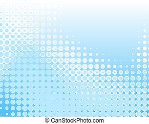 azul, puntos