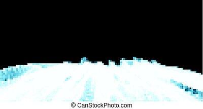 azul, puntos, excepcional, vector, red, sogas, patrón, resumen, líneas, tela, polygonal, fondo., ondulado, negro, entrelazar, cuadrícula, geométrico, futurista, illustration.