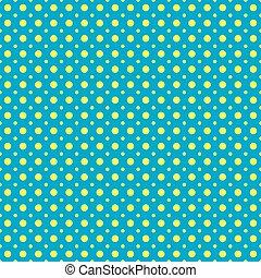 azul, puntos, patrón, polca, seamless, amarillo, textura, plano de fondo