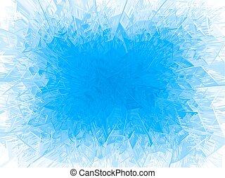 azul, quadro, geada, vetorial