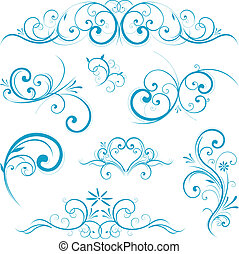 azul, rúbrica, forma