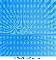 azul, raios sol, fundo