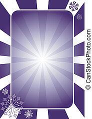 azul, raios, (vector), quadro, escuro, radie, natal