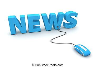 azul, ramonear, ratón, -, noticias