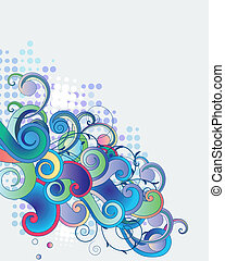 azul, ramos, luz, abstratos, fantasia, fundo