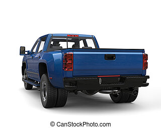 azul, real, -, espalda, camioneta, vista