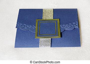 azul, real, invitación