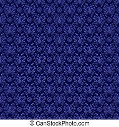 azul, real, seamless, damasco