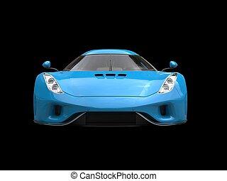 azul, real, -, supercar, vista delantera