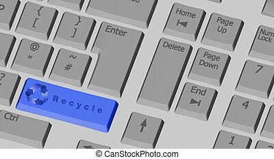 Azul, símbolo, llave computadora, venus, blanco