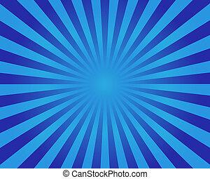 azul, redondo, experiência listrada