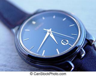 azul, relógio