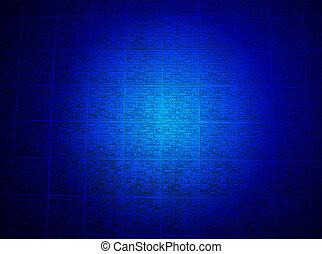 azul, religião, parede, mais claro, detalhes, tijolo