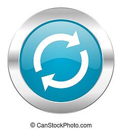 azul, reload, ícone internet