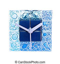 azul, reloj