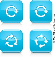 azul, repetición, reload, señal, rotación, flecha, refrescar