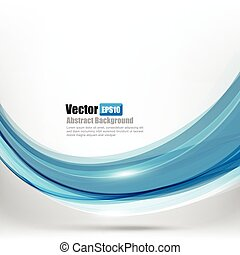 azul, resumen, curva, ilustración, onda, ligth, 001, vector, plano de fondo, elemento