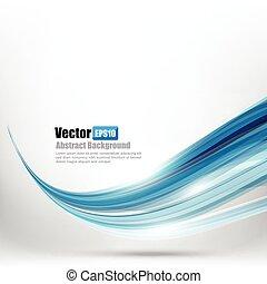 azul, resumen, curva, ilustración, onda, ligth, vector, 006, plano de fondo, elemento