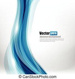 azul, resumen, curva, ilustración, onda, ligth, vector, plano de fondo, 004, elemento