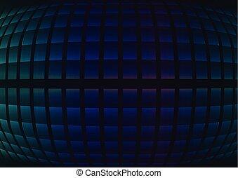 azul, resumen, curva, plano de fondo, pixel, fisheye