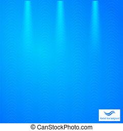 azul, resumen, fondo cuadrícula