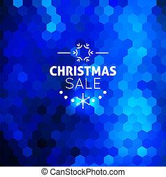 azul, resumen, navidad, plano de fondo, venta