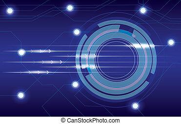 azul, resumen, plano de fondo, empresa / negocio, t