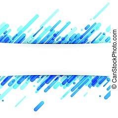 azul, resumen, plano de fondo, en, white.