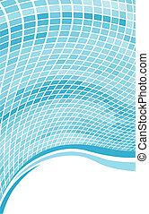 azul, resumen, space., onda, plano de fondo, copia, mosaico