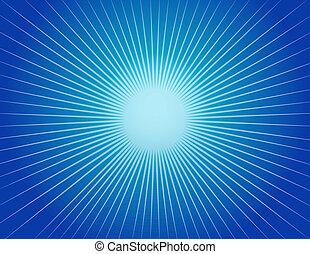 azul, resumen, starburst, plano de fondo