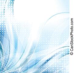 azul, resumen, techno, plano de fondo