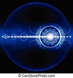 azul, resumen, tecnología