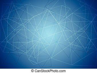 azul, resumen, tecnología, plano de fondo