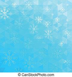 azul, resumen, vector, triángulos, plano de fondo