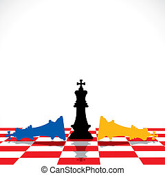 azul, rey, amarillo, derrota