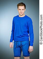 azul, roupas
