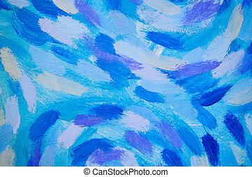 azul, roxo, parede, textura, pintura, branca
