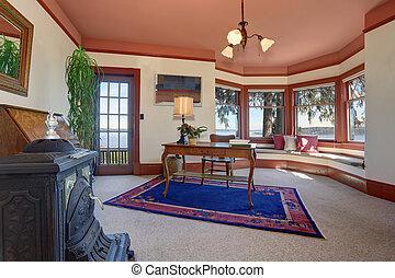 azul, rug., oficina, real, casa luxury