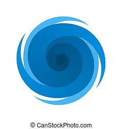 azul, símbolo, tormenta, huracán, señal