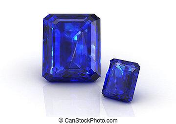 azul, safira