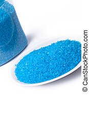 azul, sal, baño