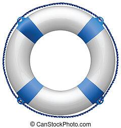 azul, salvavidas