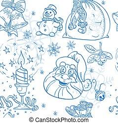 azul, seamless, fundo, christmass