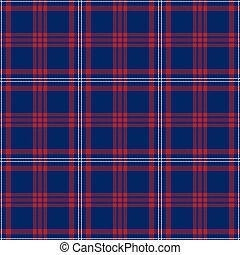 azul, seamless, patrones, tartán, blanco, patriótico, rojo