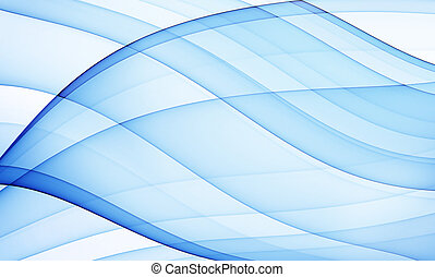azul, sedoso, curvas