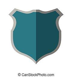 azul, segurança, proteção, sombra, escudo