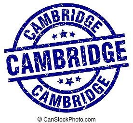 azul, selo, cambridge, grunge, redondo