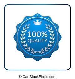 azul, selo, medalha, distinção, ícone