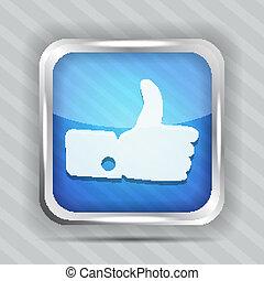 azul, semelhante, ícone
